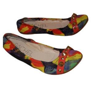 RACHEL ROY Scrunch Ruched Multicolor Flats sz 6